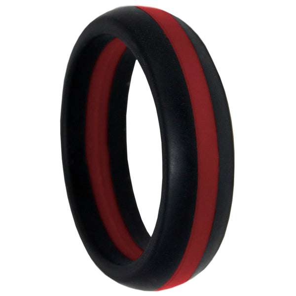 Thin Red Line Silicone Band Ring 5.5mm