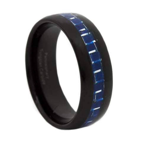 Thin Blue Line Carbon Fiber Ring