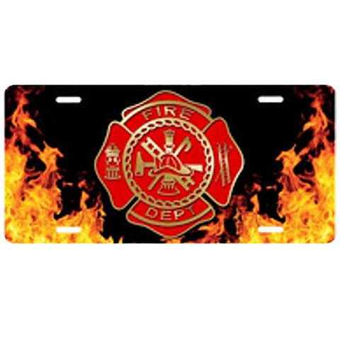 Fire Firefighter License Plate