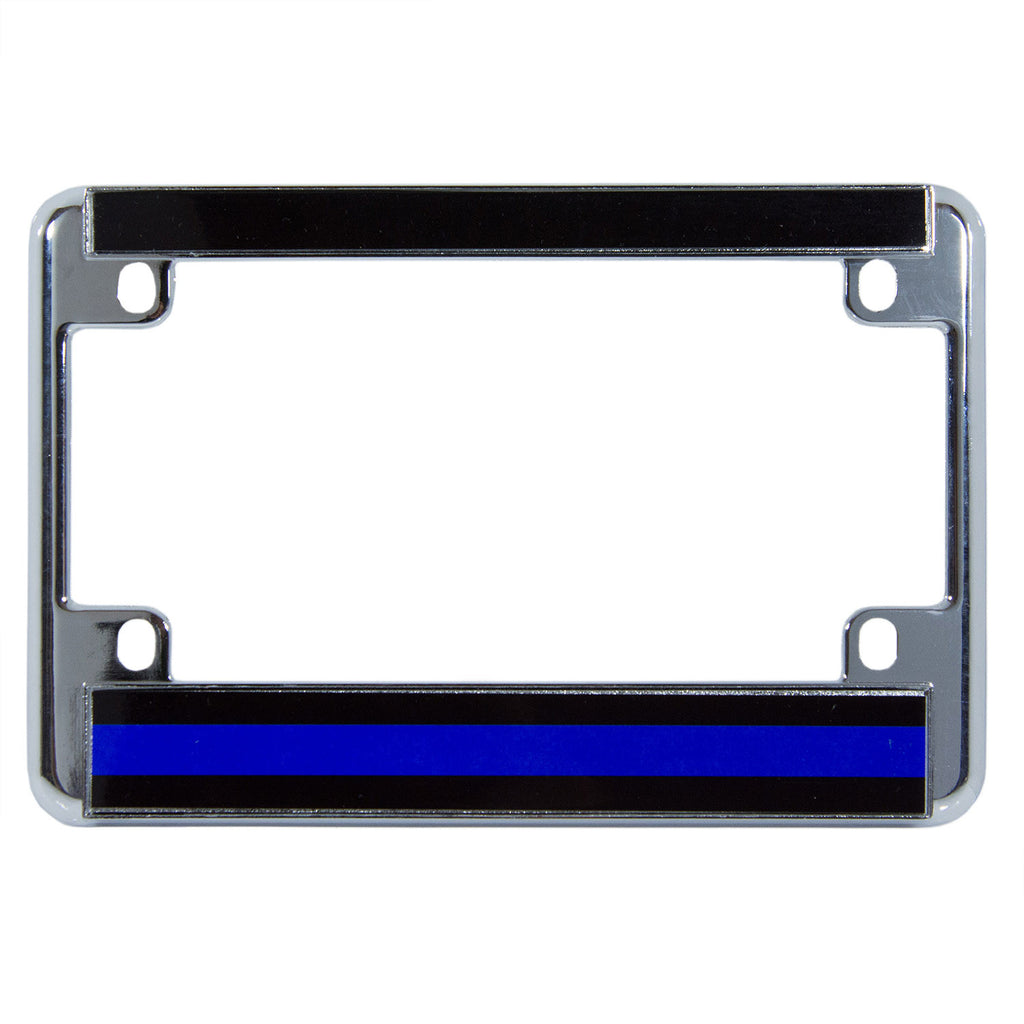 Metal Motorcycle License Plate Frame Thin Blue Line – Honor Valor