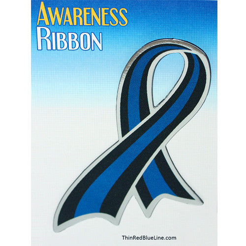 Thin Blue Line Ribbon Magnet