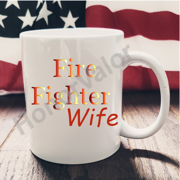 Firefighter Hero Ceramic Mug Custom Personalized Coffee Gift Wife Husband Mom Dad Grandma Pap Sister Brother Aunt Uncle USA Made