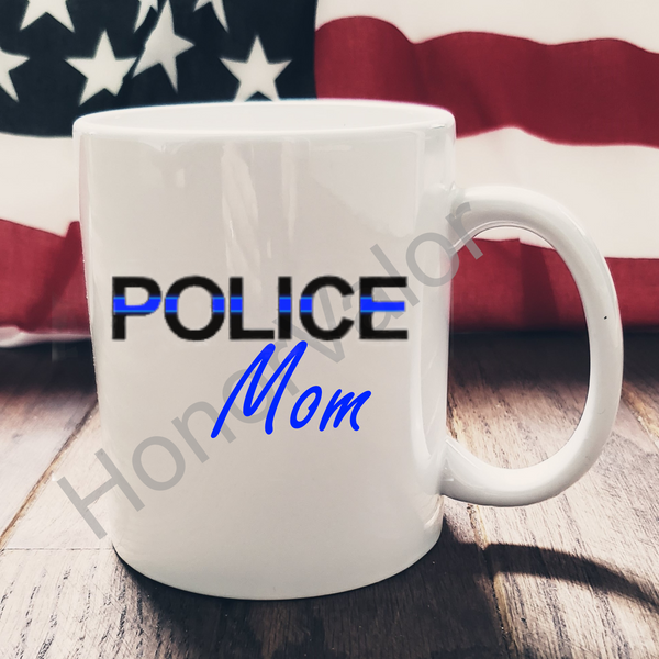 Police Officer Hero Ceramic Mug Custom Personalized Coffee Gift Wife Husband Mom Dad Grandma Pap Sister Brother Aunt Uncle USA Made