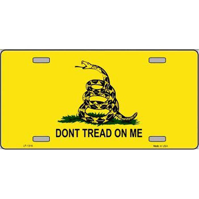 Don't Tread On Me License Plate