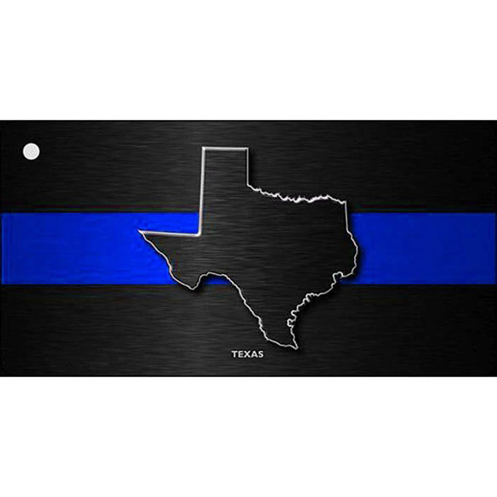 Thin Blue Line Texas Metal Key Chain