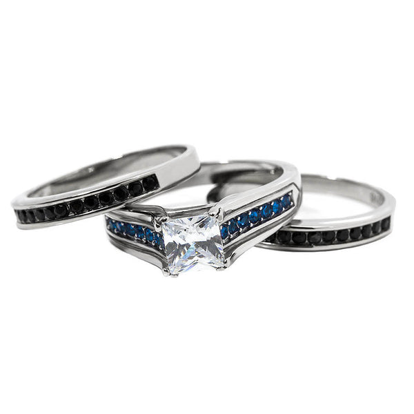 Three Ring Thin Blue Line Set