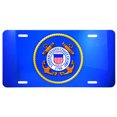 US Coast Guard Blue Metal License Plate