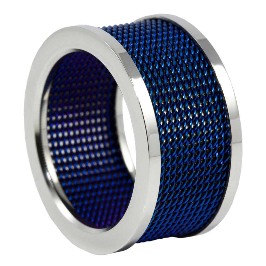 Thin Blue Line Mesh Band