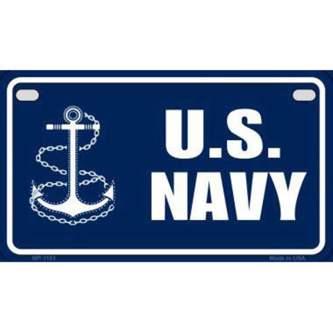 US Navy Motorcycle Metal License Plate