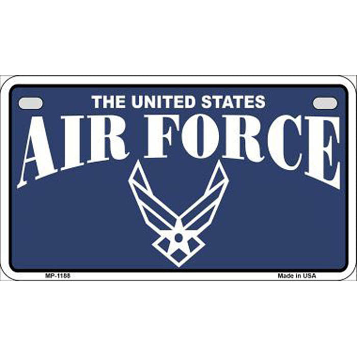 Air Force Motorcycle Metal License Plate