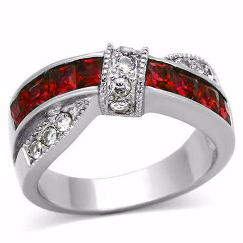 line thin engagement band wedding image ring products rings red firefighter product
