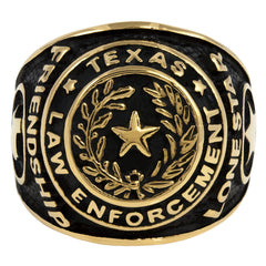 Texas Law Enforcement Gold Ring