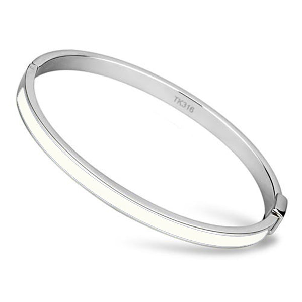Thin White Line Stainless Steel Blue White Blue Bangle Set