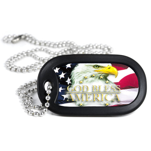 God Bless America Dog Tag