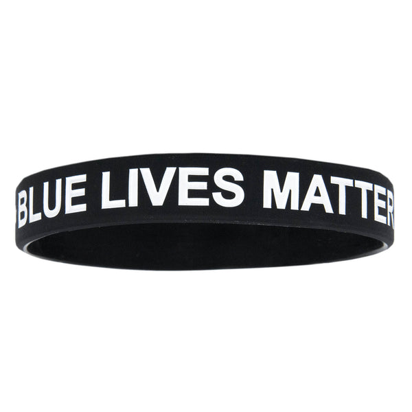 Rubber Blue Lives Matter Bracelet