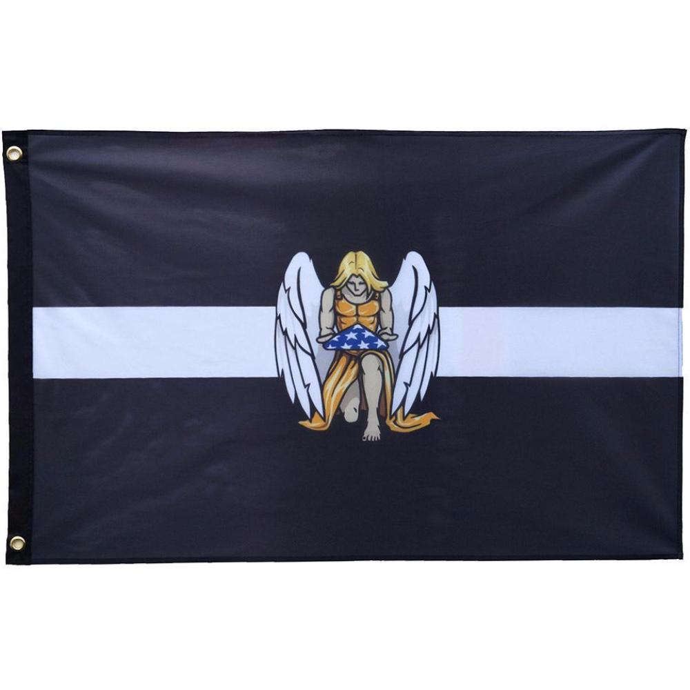 Thin White Line EMS Large Memorial Flag