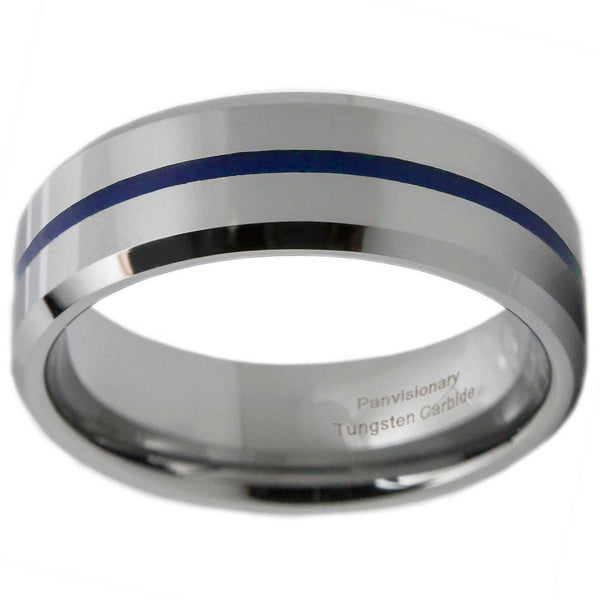 Blue Epoxy Tungsten Band