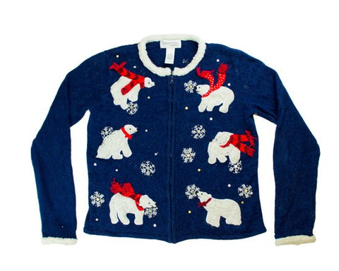 Classy Bears-Small Christmas Sweater