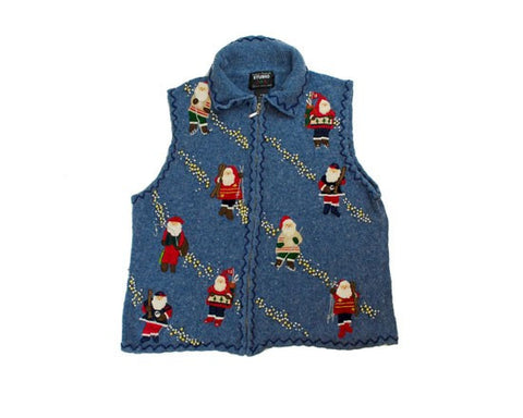 Santa And His Hobbies-Small Christmas Sweater