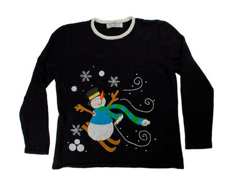Skiing Snowman-Small Christmas Sweater
