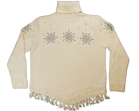 Silver Snow-Small Christmas Sweater