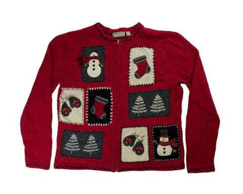 Stitched Squares-Small Christmas Sweater