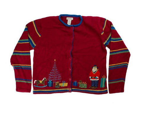 Santa Rocking Jeans-Small Christmas Sweater