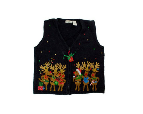 Reindeer Fun-Small Christmas Sweater