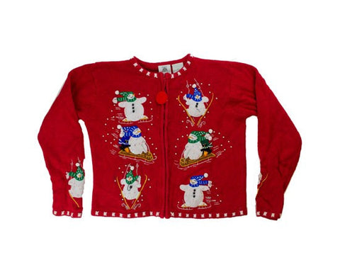 Snowmen Fun-Kids Christmas Sweater