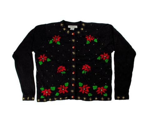 Flowers And Beads-Small Christmas Sweater