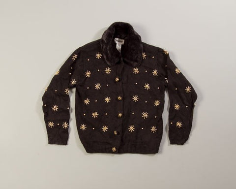 Gold Stars-Small Christmas Sweater
