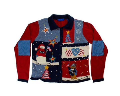Red, White And Christmas-Small Christmas Sweater