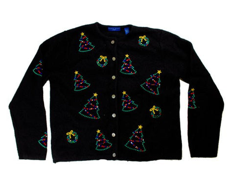 Dot Trees-Medium Christmas Sweater
