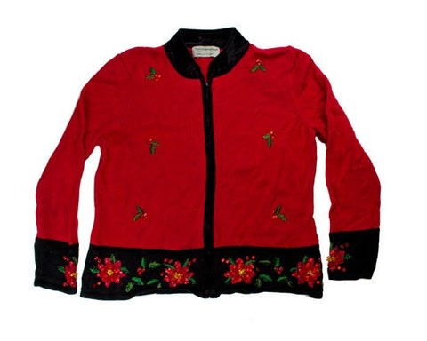 Falling Holly-Medium Christmas Sweater