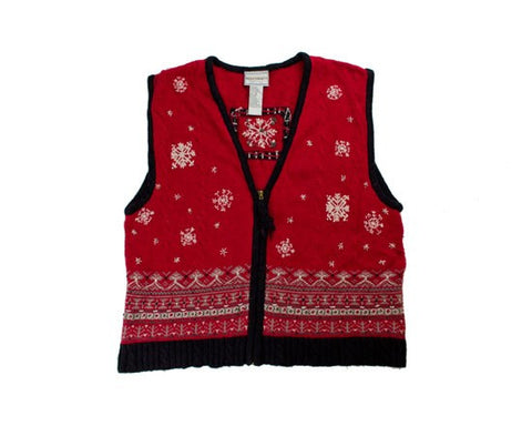 Squares Snow-Small Christmas Sweater