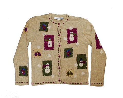 Purple Accents-X-Small Christmas Sweater