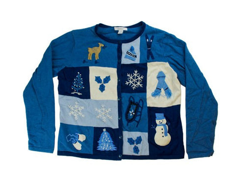 Seeing Blue-Small Christmas Sweater