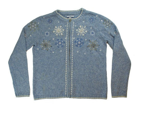 Falling Snow-Small Christmas Sweater