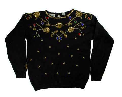 Gold Glory-Small Christmas Sweater