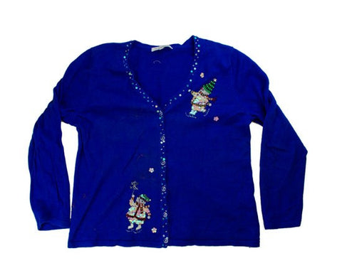 Sequence Snowmen-Medium Christmas Sweater