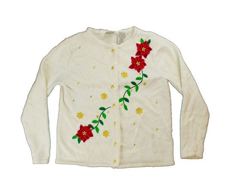 Flowers And Vines-X-Small Christmas Sweater