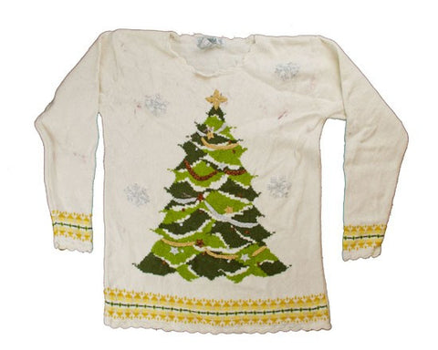 The Tree Is Trimmed-Small Christmas Sweater