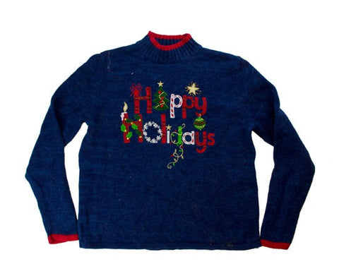 Happy Holidays-Small Christmas Sweater