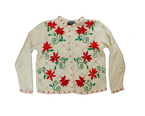 Winter Flowers-X-Small Christmas Sweater