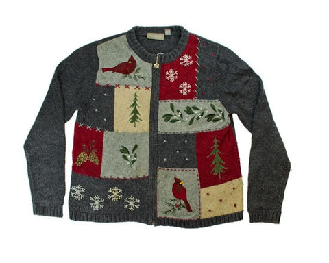 Gray Squares-Small Christmas Sweater