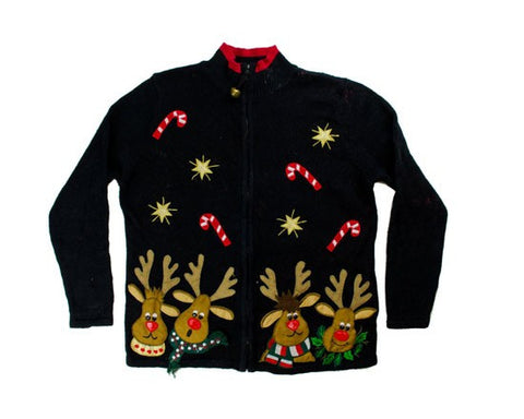 Reindeer Faces-X-Small Christmas Sweater