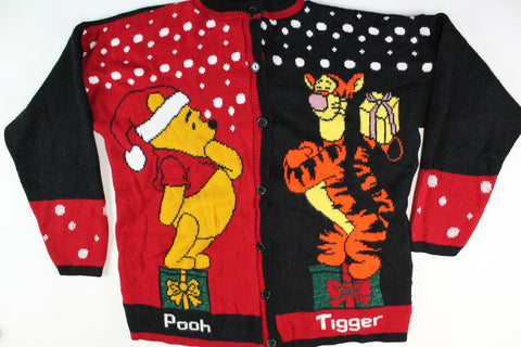 Pooh and Tigger's Christmas, extra Large, Christmas Sweater