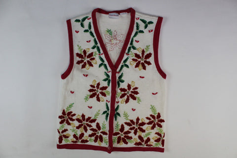 Poinsettia Delight, Xsmall, Christmas Sweater