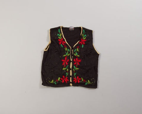 Floral V-Line-Small Christmas Sweater