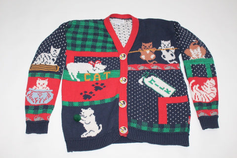 Mischievous Kittens, Small, Christmas sweater